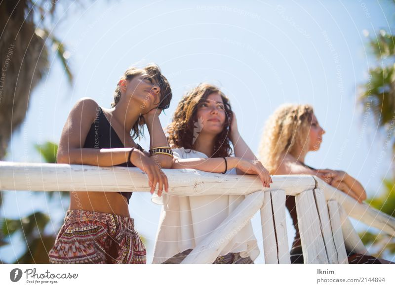 Human being Vacation & Travel Youth (Young adults) Young woman Summer Relaxation Far-off places 18 - 30 years Adults Lifestyle Feminine Tourism Think Together