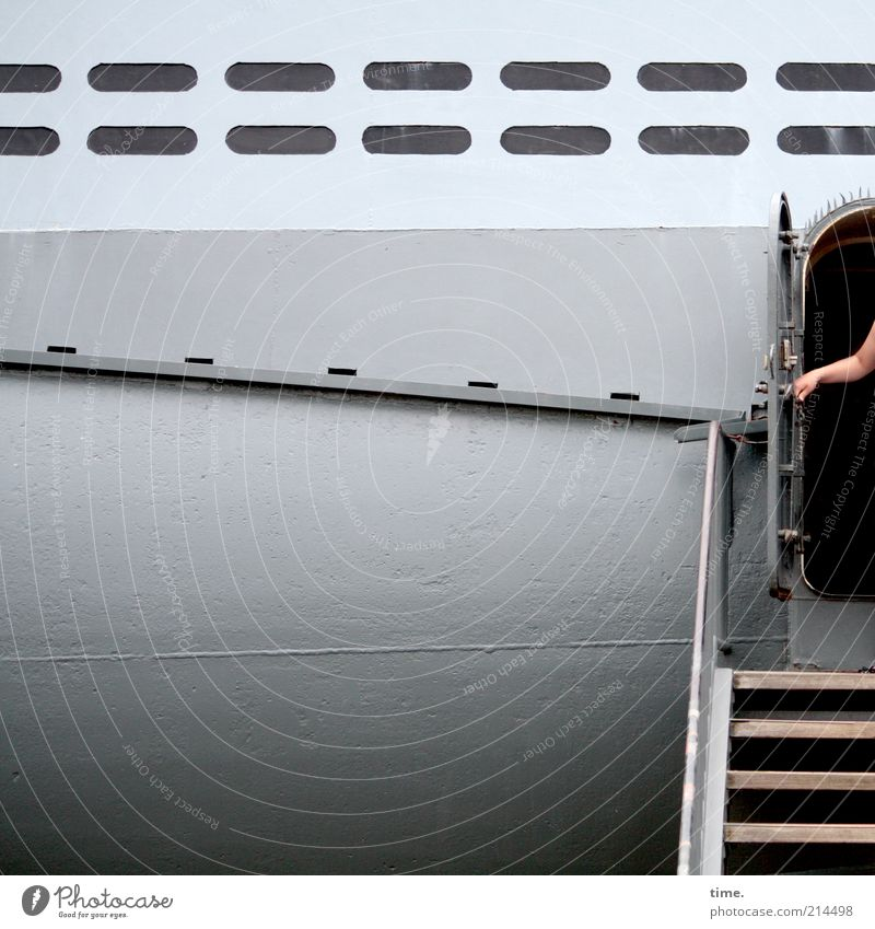 Hand Old Gray Watercraft Metal Door Stairs Tourism Metalware Touch Historic Vacation & Travel Museum Iron Exhibition Tin