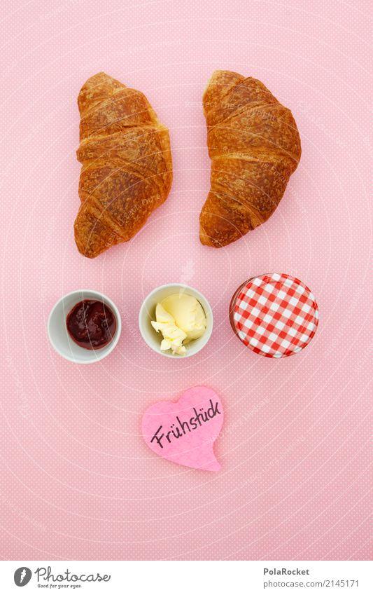 #AS' Breakfast at... # Lifestyle Shopping Elegant Style Design Esthetic Breakfast table Morning break Jam Jam jar Butter Croissant Pink Delicious Colour photo