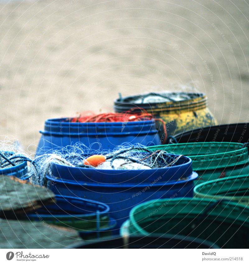 Green Blue Beach Arrangement Net Fishing (Angle) Crate Catching net Equipment Fishery Keg Keep Fishing line
