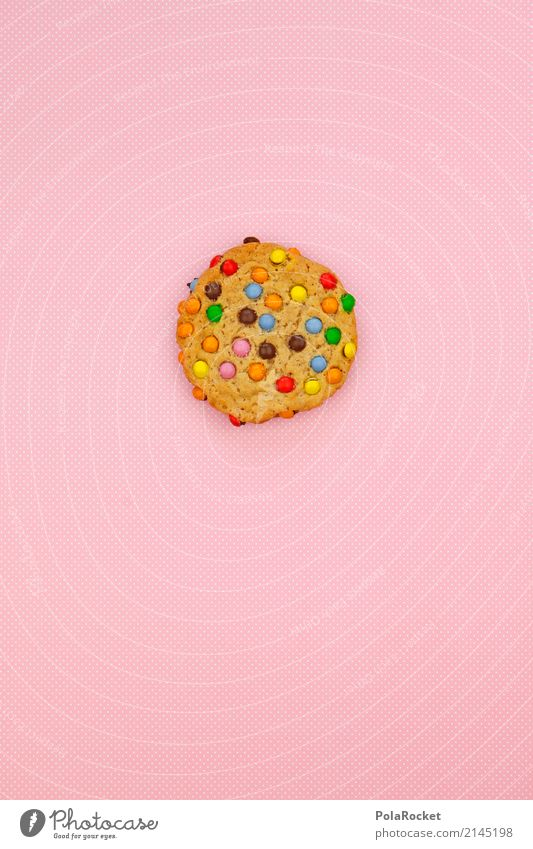 #AS# Cookie colored Art Esthetic Eating Food photograph Healthy Eating Dish Delicious Unhealthy cookie Baked goods Pink Multicoloured Snack Snackbar Break