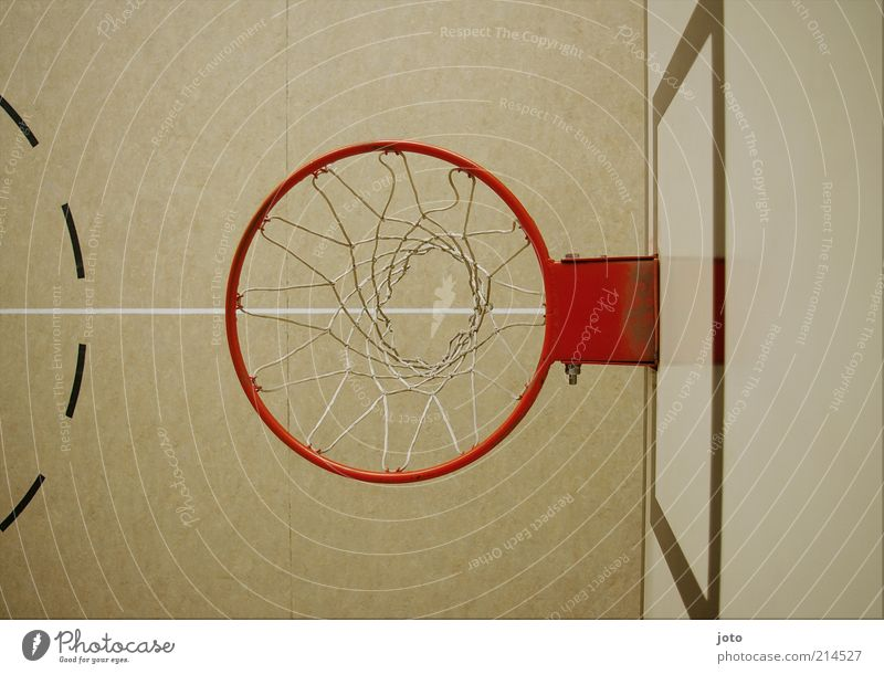 Red Joy Sports Playing Line Bright Leisure and hobbies Modern Perspective Floor covering Circle Net Hall Uninhabited Geometry Motionless