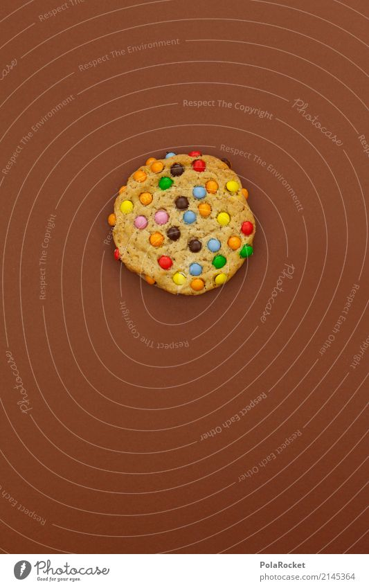 #AS# Brown Cookie Art Esthetic Baked goods Candy Delicious Unhealthy Appetite Calorie Rich in calories Multicoloured Sweet Chocolate buttons Colour photo