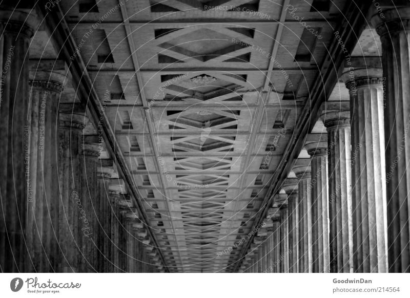 Beautiful Old Calm Emotions Moody Architecture Decoration Infinity Exceptional Luxury Manmade structures Historic Column Ceiling Corridor