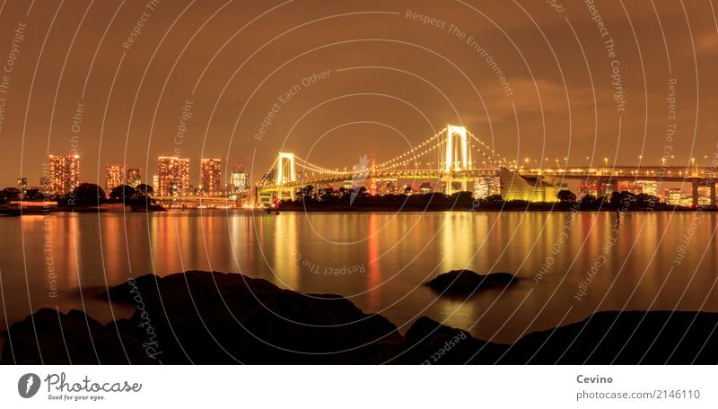 Tokyo at night Japan Asia Outskirts Skyline Deserted Bridge Manmade structures Building Architecture Tourist Attraction Transport Means of transport