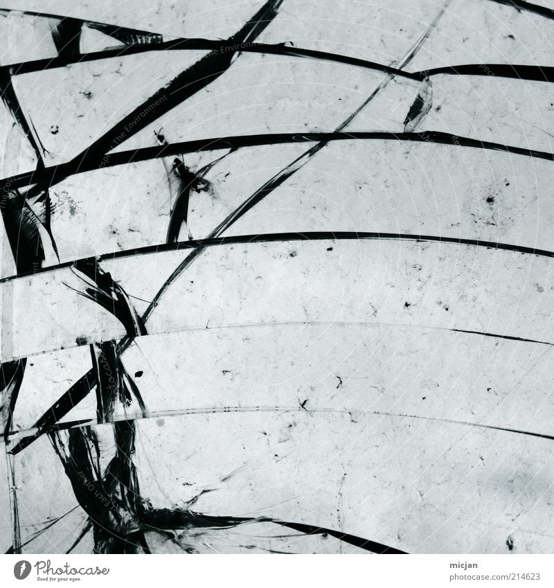 Beautiful Sky Black Line Glass Broken Anger Force Material Crack & Rip & Tear To break (something) Aggression Destruction Fragile Frustration Arch