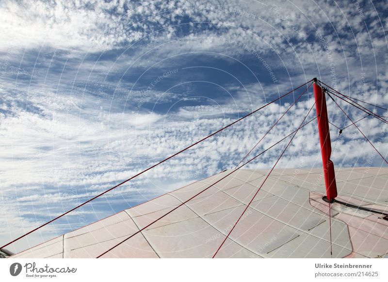 icarus Air Sky Clouds Aircraft Cloth Wing Red White Paraglider Hang gliding Rod Light blue Ready to start Lining Rag Hang glider Delta Spinetailed Swift