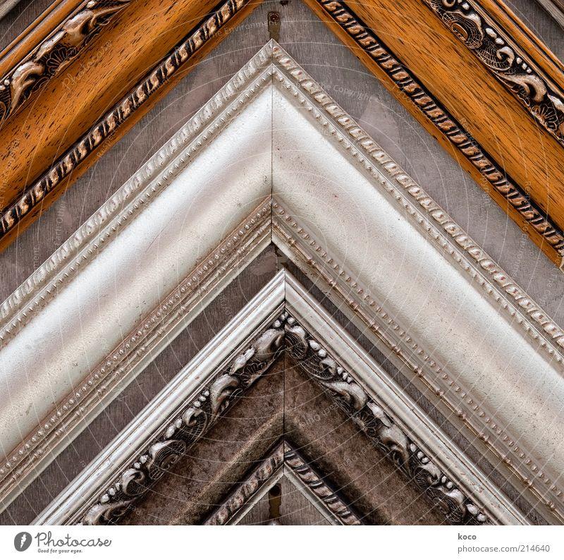 angular Design Decoration Picture frame Shenzen China Asia Corner Wood Sharp-edged Glittering Brown Gray Black Silver Esthetic Symmetry Colour photo Close-up