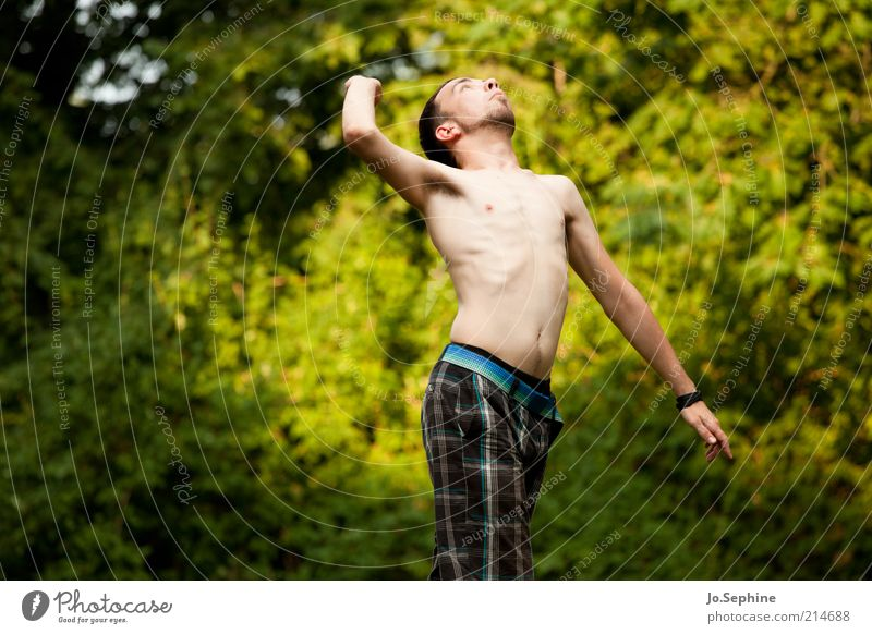 Human being Nature Youth (Young adults) Tree Adults Life Movement Jump Young man 18 - 30 years Power Masculine Success Energy Fitness Brave