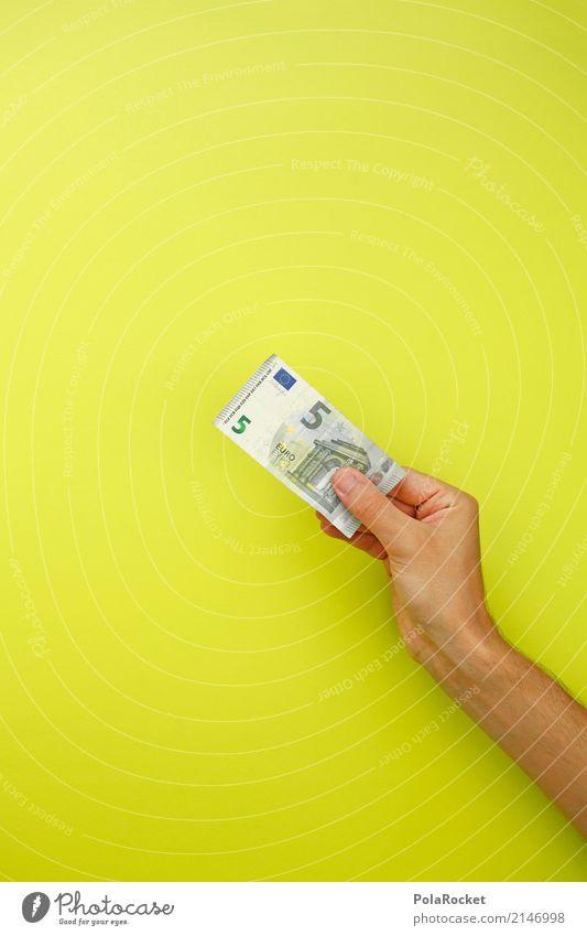 Art Esthetic Gift Money Financial institution 5 Bank note Euro Euro symbol Credit Donation Monetary capital Pocket money Financial transaction Euro bill