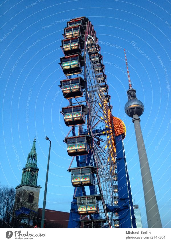 Giant Ferris Wheel to the Christmas Market at Alexanderplatz in Berlin Town Capital city Downtown Tourist Attraction Landmark Joy Ferris wheel Christmas Fair
