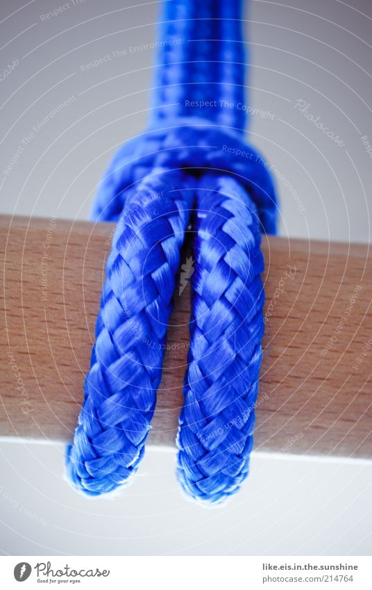 Blue Wood Rope Safety Firm String Strong Stick Rod Loop Maritime Plaited Wooden pole