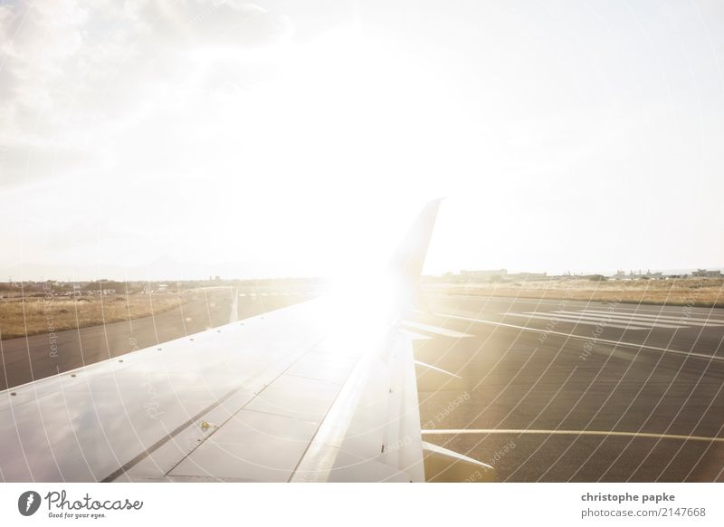 Off on holiday Vacation & Travel Far-off places Summer vacation Sun Beautiful weather Transport Means of transport Aviation Airplane Passenger plane Airport