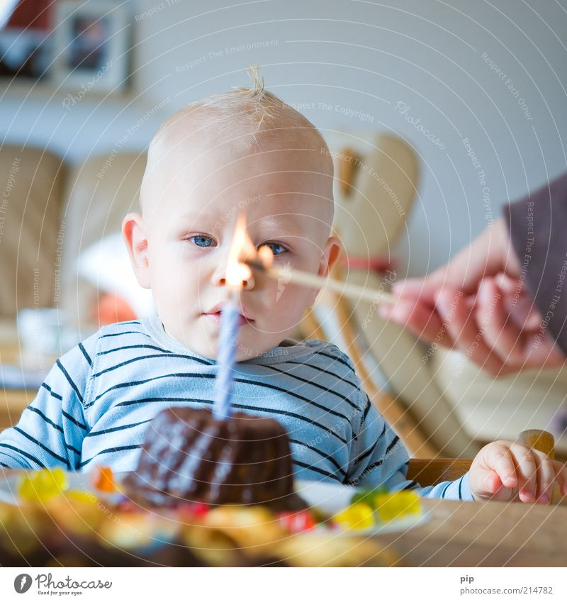 Eyes Love Boy (child) Happy Dream Feasts & Celebrations Blonde Baby Birthday Beginning Fire Table Growth Future Candle Observe