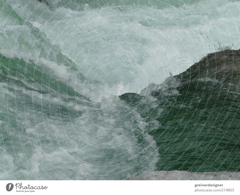 Nature Water Movement Power Waves Drops of water River Wild Brook Waterfall Current Force of nature Whitewater