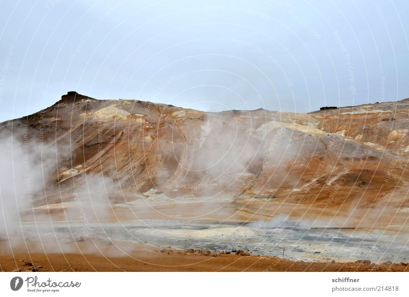 Nature Water Landscape Environment Mountain Warmth Natural Sand Earth Wind Elements Peak Smoke Hot Iceland Volcano