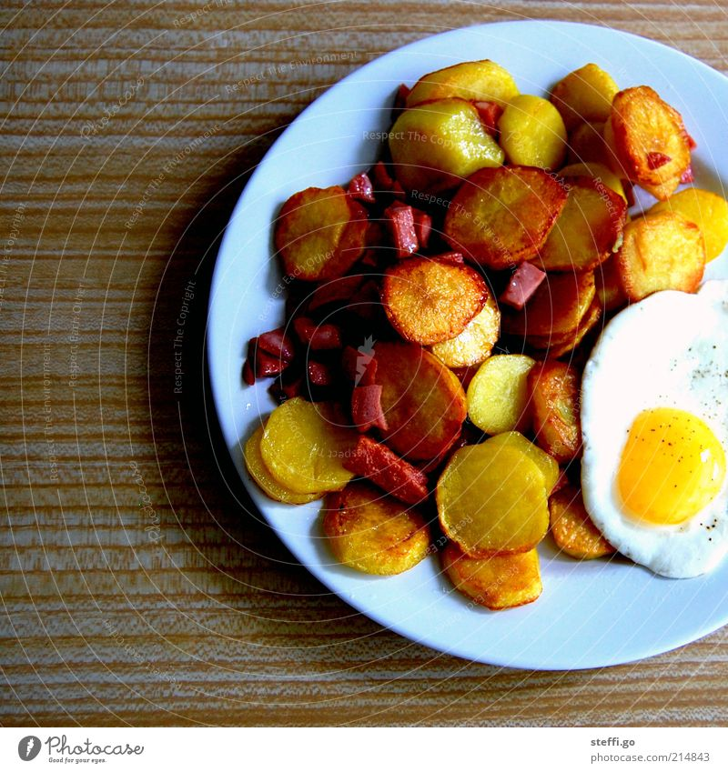 Food Food photograph Nutrition Appetite Delicious Overweight Fragrance Plate Egg Dinner Meal Meat Fat Lunch Sausage Vegetable