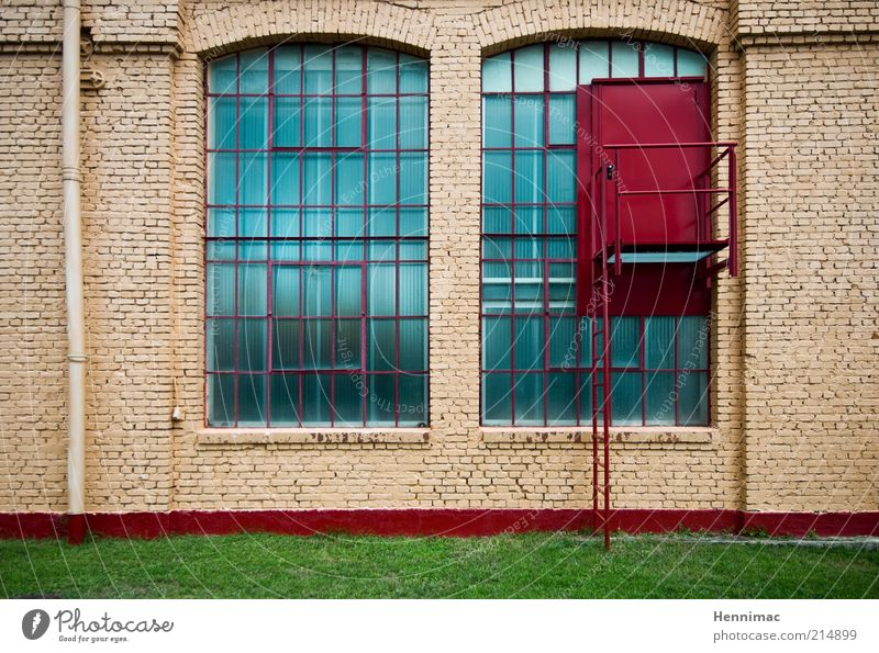 Old Green Blue Red Meadow Wall (building) Window Stone Wall (barrier) Brown Architecture Glass Door Concrete Facade
