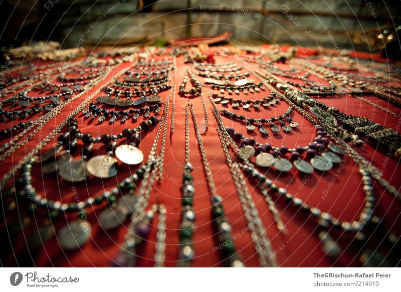 Beautiful Vacation & Travel Tourism Red Black Silver Israel Trade Jewellery Markets Sell Precious Colour photo Multicoloured Exterior shot Wide angle Chain