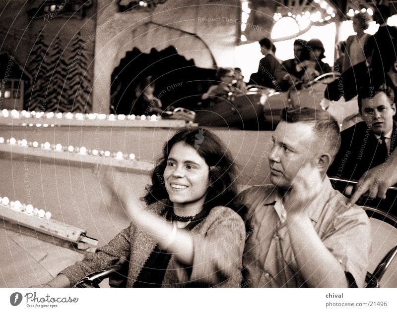 Joy Group Laughter Couple Round Fairs & Carnivals Enthusiasm