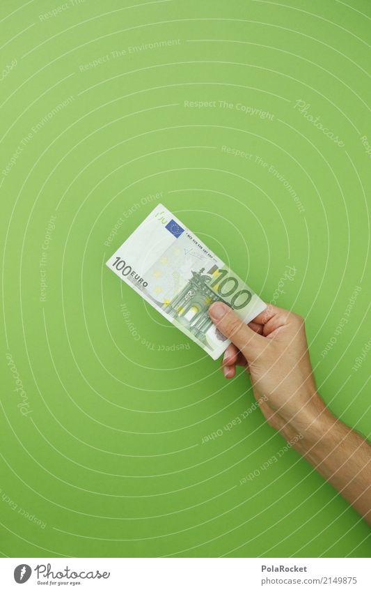 Green Art Esthetic Success Money Financial institution Bank note Euro symbol 100 Election campaign Bonus Lottery Donation Monetary capital Pocket money