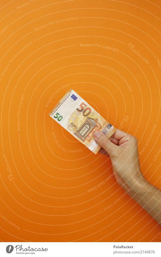 Art Esthetic Success Shopping Money Financial institution Work of art Bank note 50 Euro symbol Bonus Donation Financial difficulty Shopaholic Monetary capital