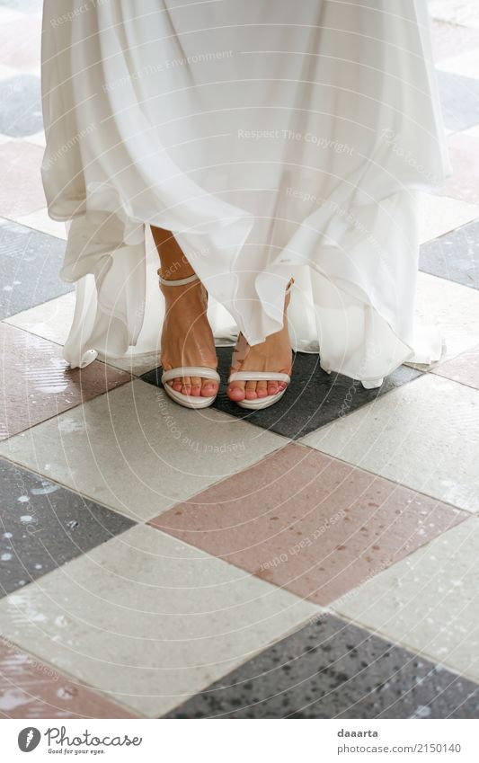 bride and rain and shoes Joy Life Harmonious Leisure and hobbies Trip Adventure Freedom Entertainment Event Going out Feasts & Celebrations Flirt Wedding