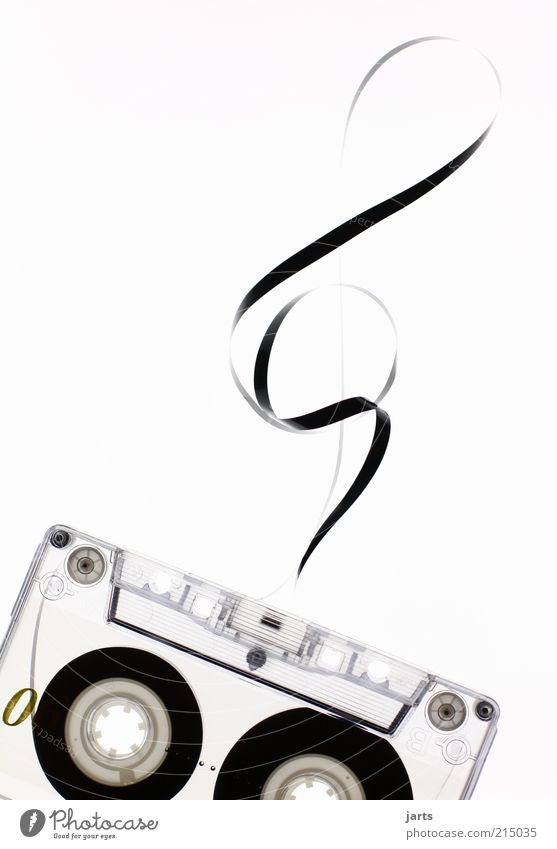 music Design Music Media Tape cassette Clef Musical notes Sound Deserted Copy Space left Copy Space right Artificial light Retro