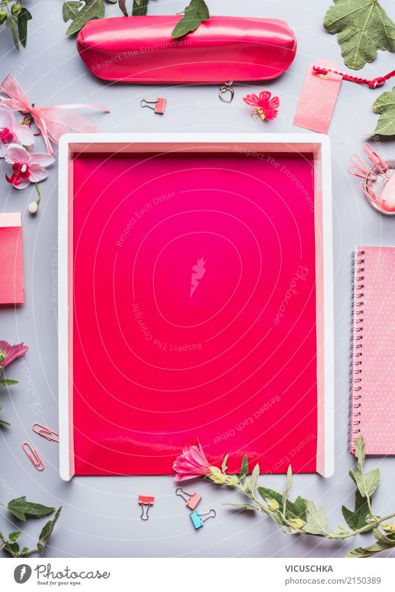 Summer Flower Background picture Feminine Style Business Pink Design Work and employment Living or residing Office Arrangement Academic studies