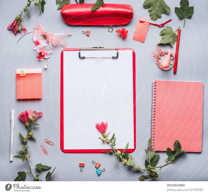 Flower Red Lifestyle Feminine Style Business School Design Work and employment Leisure and hobbies Office Decoration Arrangement Study Paper Academic studies