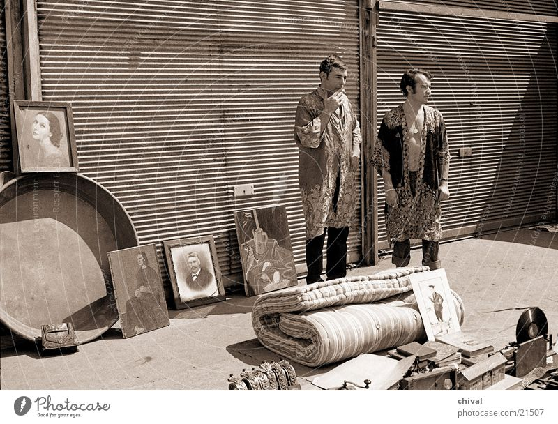 flea market Flea market Paris Retro Junk Trash Expectation Boredom Sell Man Garage Cape Europe Air mattress Image