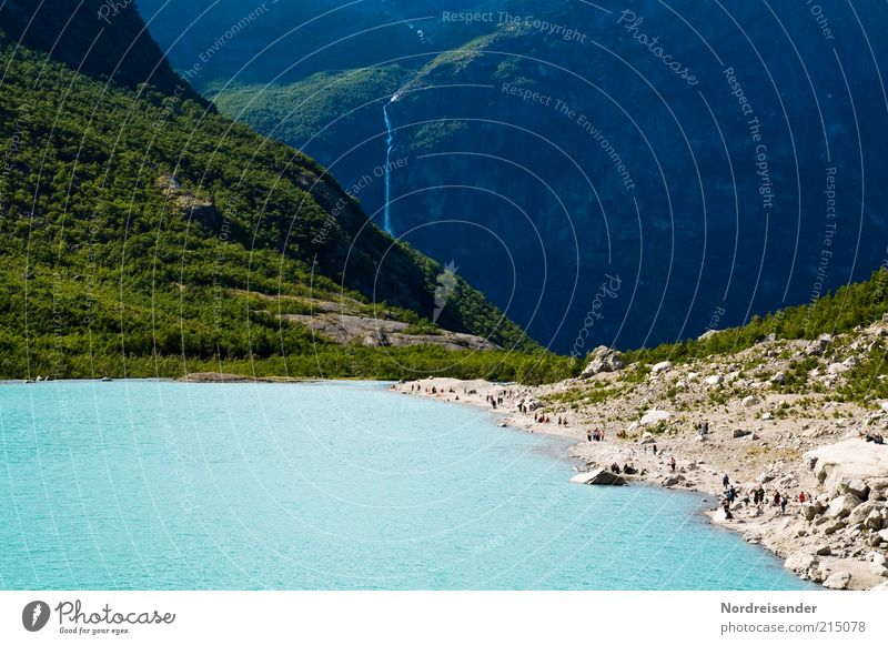 ant trail Lifestyle Vacation & Travel Tourism Trip Summer Mountain Human being Nature Landscape Elements Climate change Lakeside Waterfall Natural Perspective