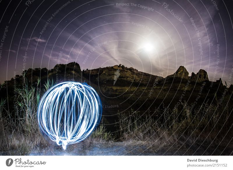 ball of light Vacation & Travel Adventure Camping Nature Landscape Sky Clouds Moon Spring Summer Autumn Beautiful weather Hill Rock Alps Mountain Peak