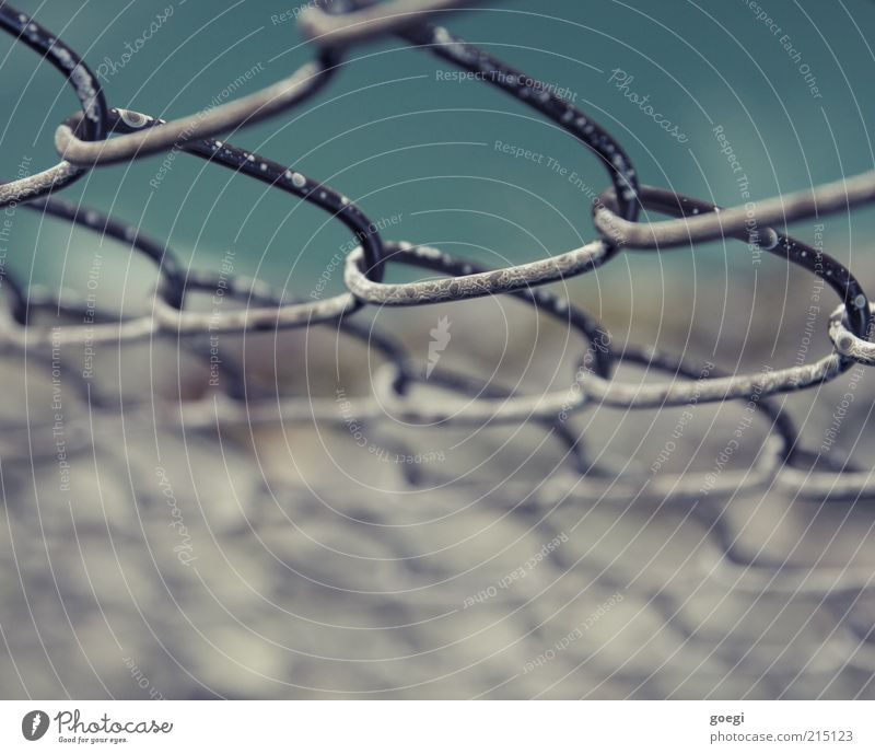 weathered Water Old Tall Broken Time Attachment Rock Fence Wire netting fence Boundary Canyon Edge Colour photo Exterior shot Detail Structures and shapes