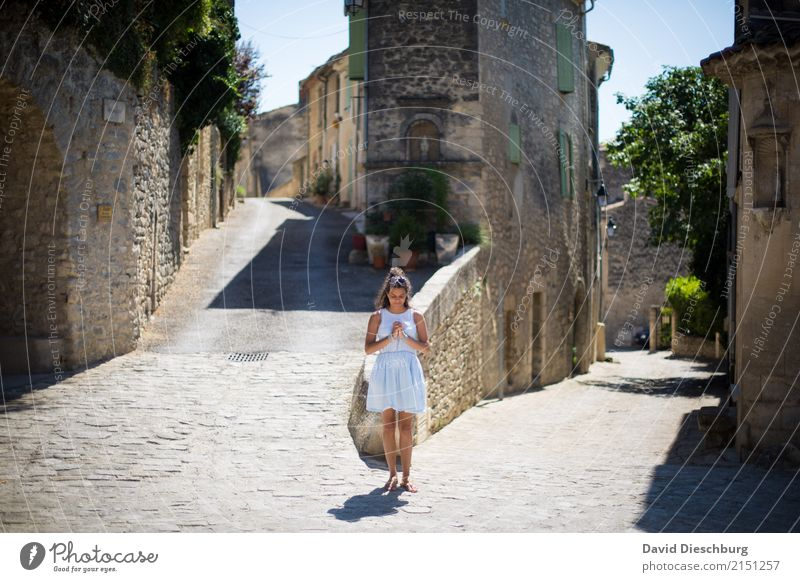 Human being Woman Vacation & Travel Youth (Young adults) Young woman House (Residential Structure) Calm 18 - 30 years Face Adults Street Wall (building)