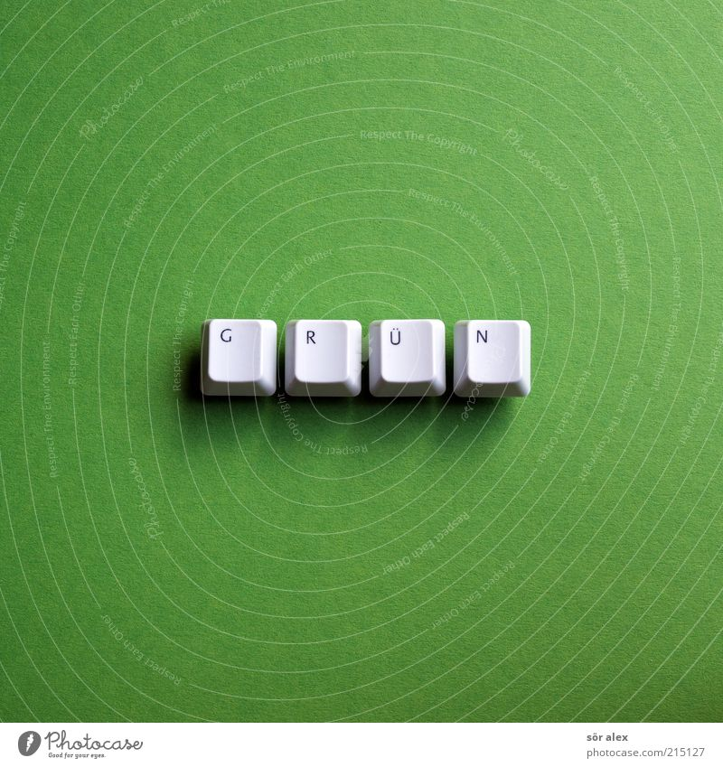 green Keyboard Letters (alphabet) Word Plastic Characters Sharp-edged Sustainability Gray Green Hope Environment Environmental protection Bilious green