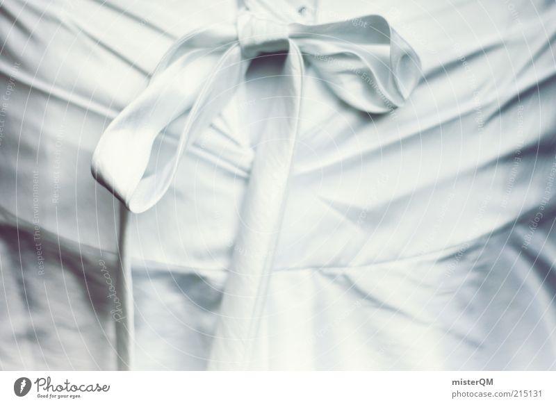 White Art Elegant Esthetic Decoration Cloth Dress Culture Pure Mysterious Ease Bow Bundle Wedding dress Copy Space left Feasts & Celebrations