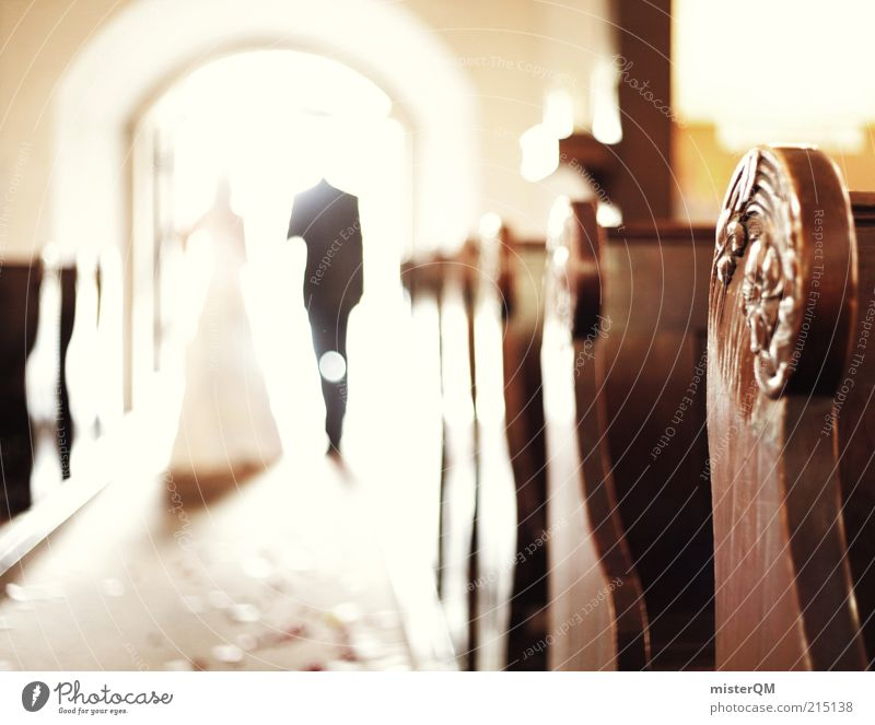 Together. Art Esthetic Matrimony Married couple Wife Husband Couple Wedding Wedding couple Wedding ceremony Heavenly Religion and faith Ceremony