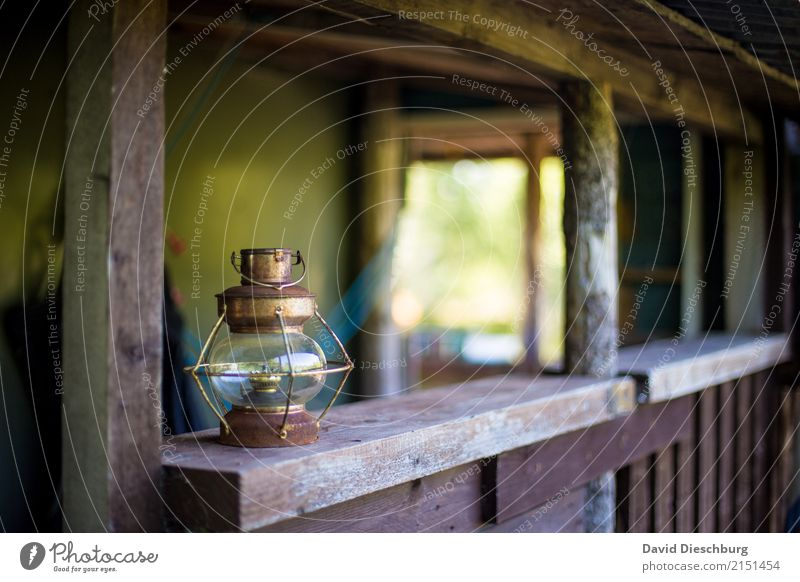old lamp Vacation & Travel Expedition Hiking Brown Green White Lamp Landscape format Old Rustic Lighting kerosene kerosene lamp Wooden hut Veranda Romance