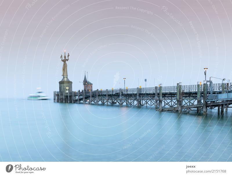 Sky Blue Town Water Tourism Gray Horizon Tourist Attraction Statue Konstanz