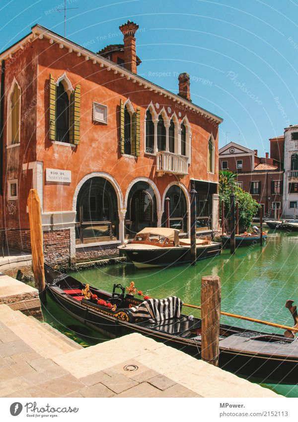 Venice Town Old town Deserted House (Residential Structure) Tourist Attraction Beautiful Gondola (Boat) Watercraft Summer Vacation & Travel Tourism Orange