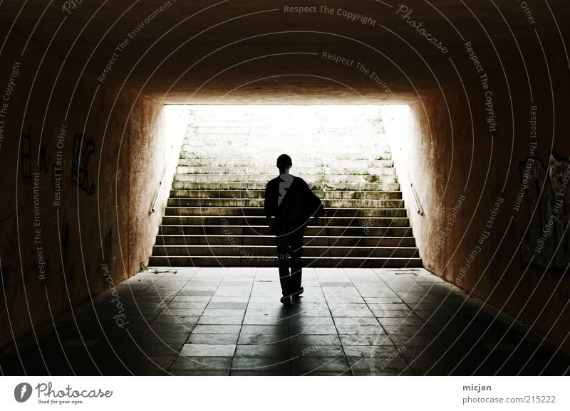 Human being Man City Loneliness Death Stone Sadness Heaven Adults Going Masculine Walking Stairs Transience Mysterious Tile
