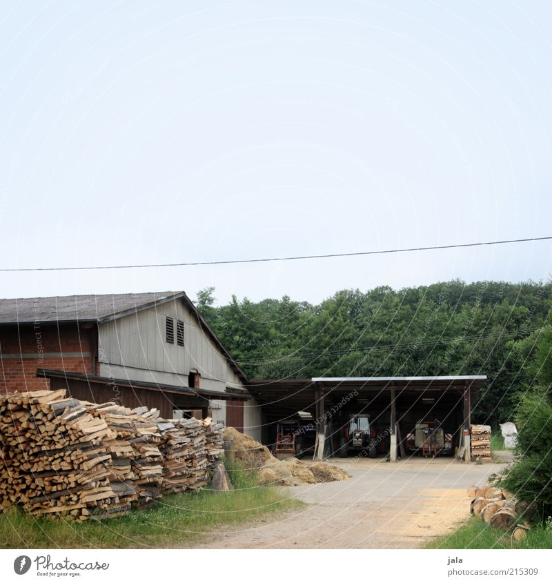 farmyard Agriculture Forestry Nature Sky Grass Village House (Residential Structure) Places Manmade structures Building Tractor Courtyard Farm Barn Garage Wood