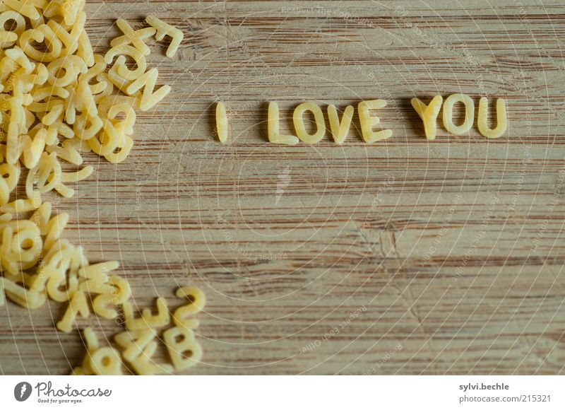 I Love You Food Dough Baked goods Nutrition Kitchen Valentine's Day To talk Stationery Characters Write Small Brown Yellow Emotions Spring fever Infatuation