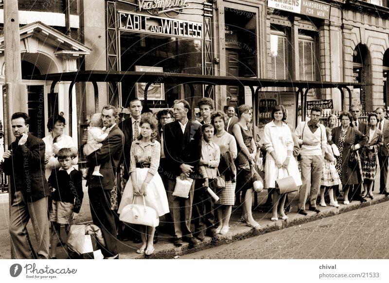 Human being Group Wait Bus Queue Passenger Bus stop