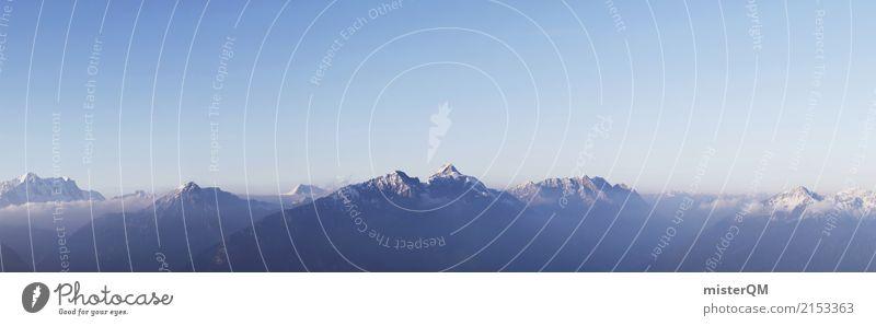 Nature Mountain Environment Rock Climate Peak Alps Snowcapped peak Panorama (Format)