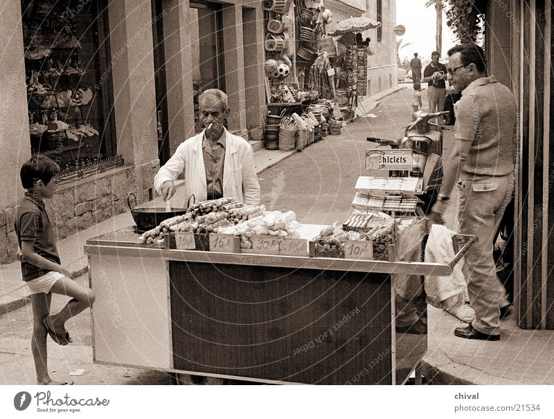 street sale Spain Sell Alley Customer Human being Boy (child) Stalls and stands Merchant