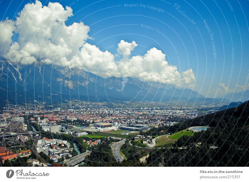 About Innsbruck... Tourism Trip Far-off places Freedom Sightseeing City trip Summer Summer vacation Mountain Sporting Complex Ski jump bergisel ski-jump