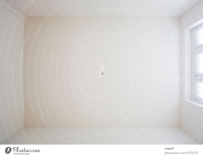 Beautiful White Wall (building) Window Wall (barrier) Bright Background picture Large Empty Esthetic New Authentic Simple Interior design Geometry Symmetry