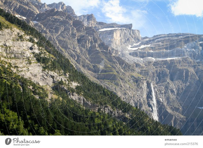 la grande cascade Freedom Summer Mountain Nature Landscape Climate Weather Forest Rock Alps Peak Glacier Canyon Tall Beautiful Water Waterfall Pyrenees gavarnie